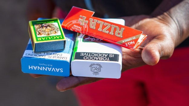 Cigarettes for sale in Johannesburg in May during