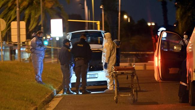 The woman found her boyfriend's body in her VW Polo, which stood deserted in the busy street. Picture: Supplied