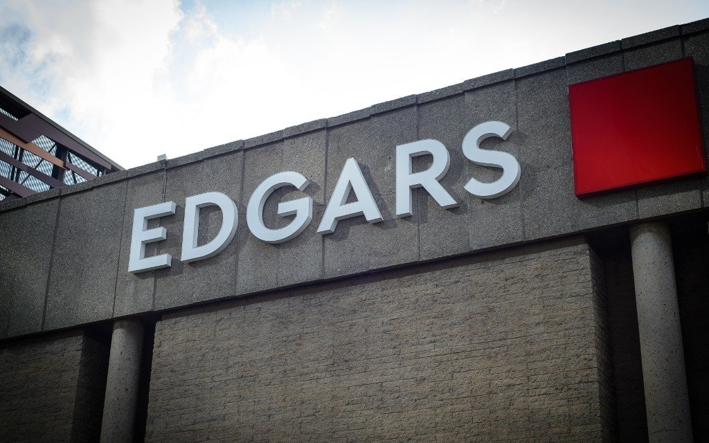 An Edgars store in Johannesburg in March, 2020.