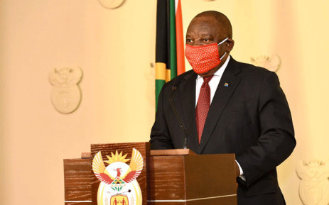 President Cyril Ramaphosa addresses the nation on the coronavirus measures on 13 May 2020. Picture: GCIS.