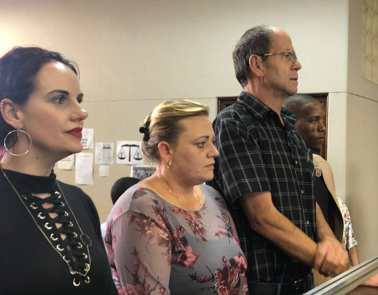 Tharina Human, Laetitia Nel, Pieter van Zyl, and and Bafokeng Molemoh in court. File Photo.