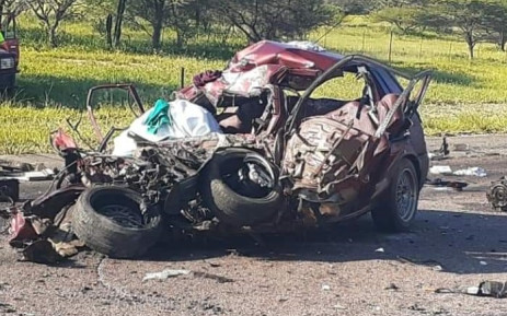 Five people died following a multi-vehicle accident on the N1 south near Kranskop on Saturday, 9 January. Picture: Department of Transport.